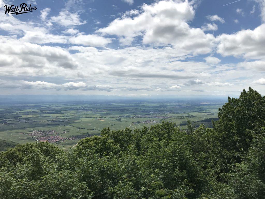 ballade dans les vosges depuis la plaine d'Alsace