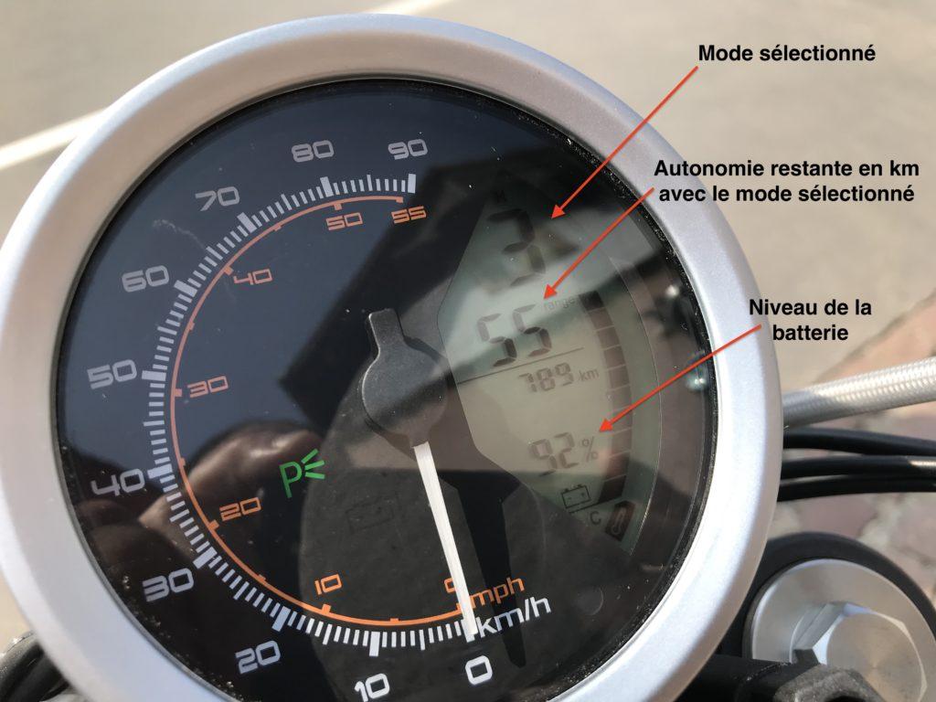compteur vitesse moto électrique super sono tc