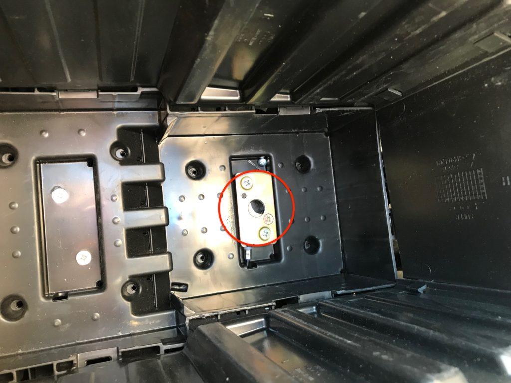 compartiment batterie moto électrique super SOCO TC